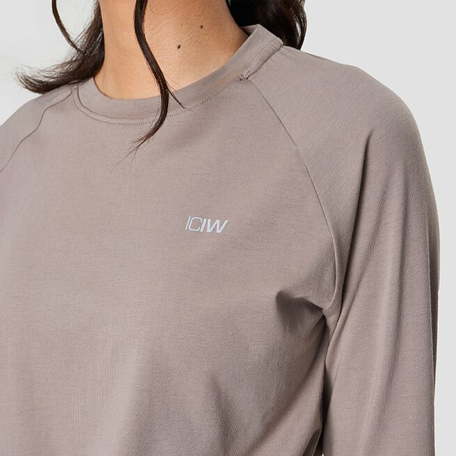 ICANIWILL Define Cropped Adjustable Long Sleeve Taupe