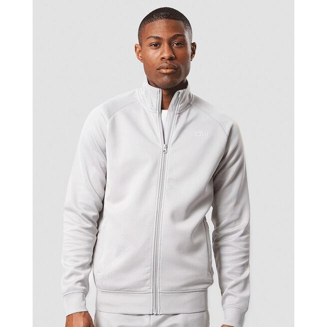 Workout Track Jacket, Light Grey, L