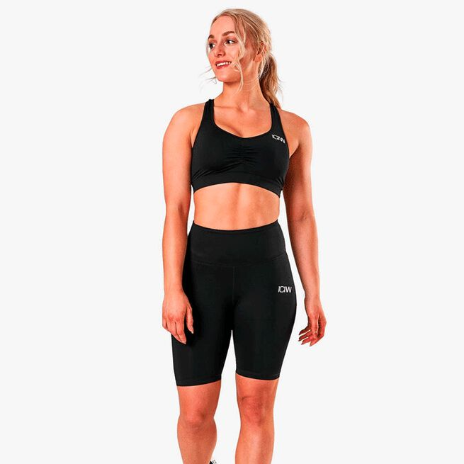 ICIW Scrunch sports bra black