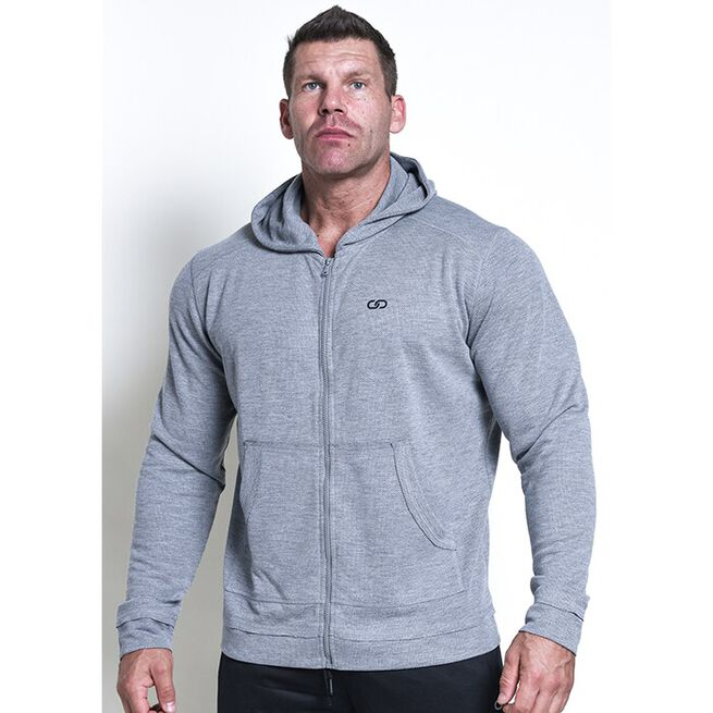 Chained Zip Gym Hood, Grey, M