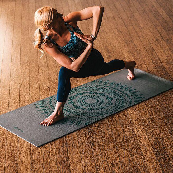 6mm Yoga Mat Teal Marrakesh Longer/Wider