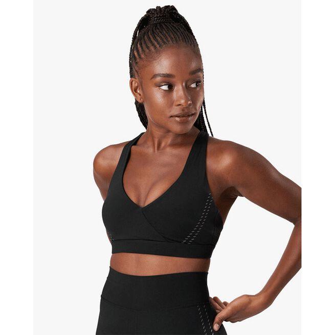 Inhale Sports Bra, Black, XS