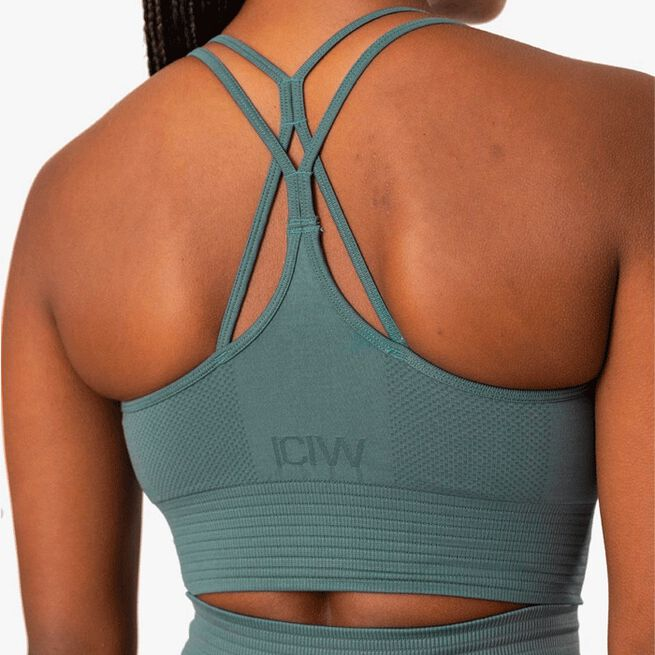 ICIW Define Seamless Sport Bra, Jungle Green