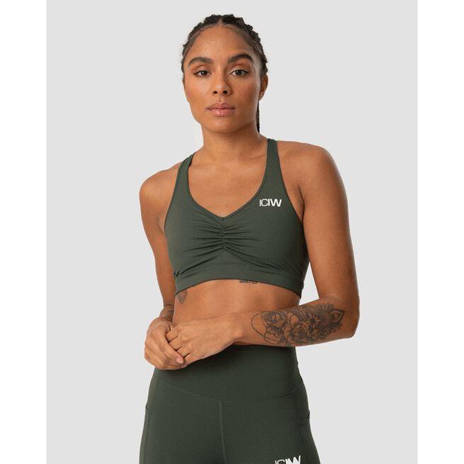 Scrunch Sports Bra, Army Green, L