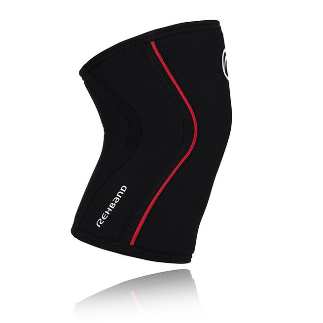 RX Knee Sleeve, 7mm, Black/Red, XS