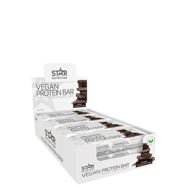 Star Nutrition 12 x Vegan Protein bar, 50 g