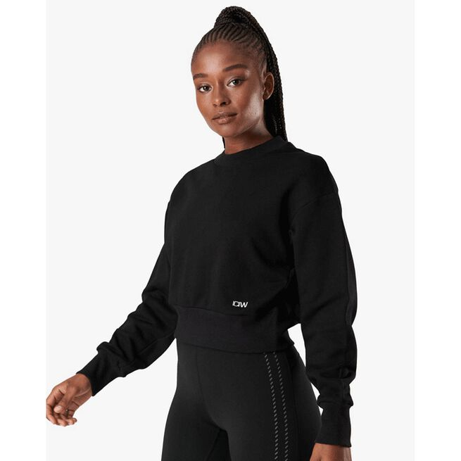 Inhale Crewneck, Black, L