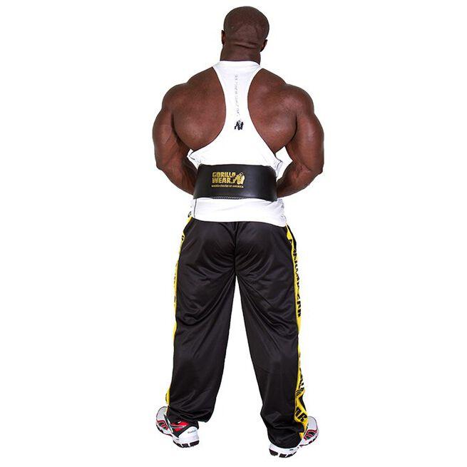 Full Leather Padded Belt, black/gold - S/M