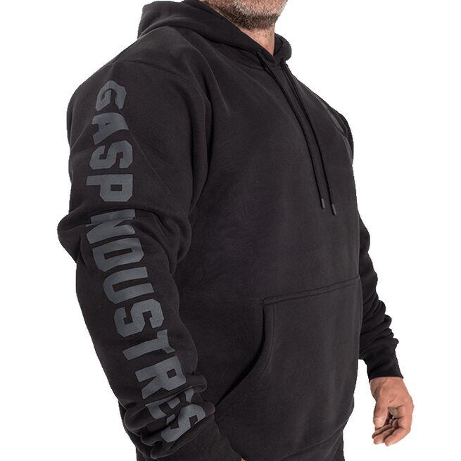 GASP Logo Hoodie, Black, L