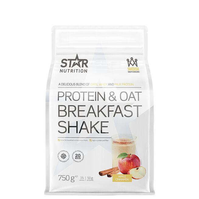 Star nutrition protein and oat breakfast shake apple cinnamon