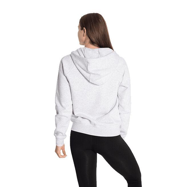 Core Zip Hoodie, White Melange, L