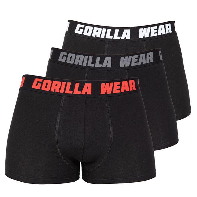 Gorilla Wear Boxershorts 3-pack, Black, S
