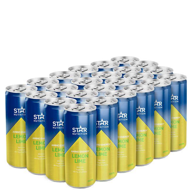 24 x Star Nutrition Amino Energy, 330 ml, Lemon Lime