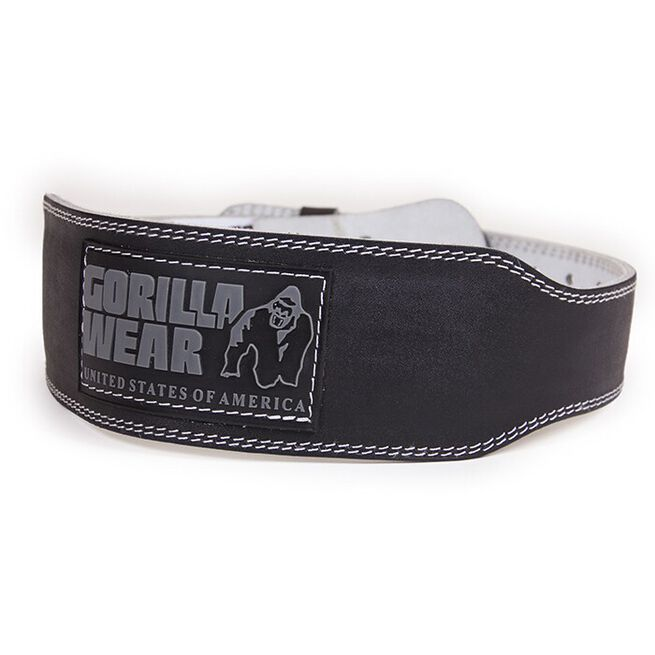 4 Inch Padded Leather Belt, black - 2XL/3XL