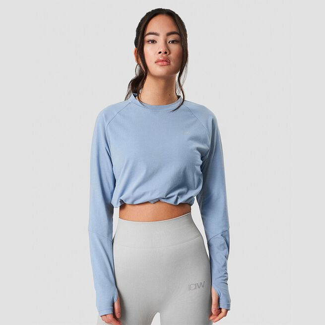ICANIWILL Define Cropped Adjustable Long Sleeve Powder Blue