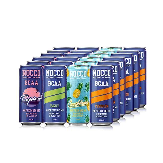 24 x NOCCO BCAA, 330 ml, Blandede smaker