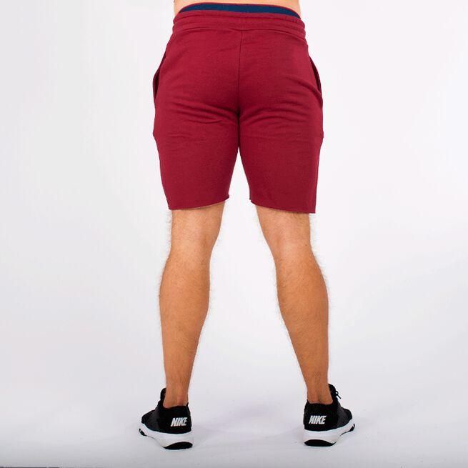 Star Raw Edge Shorts, Maroon