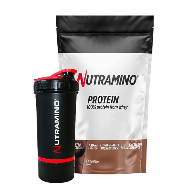 Nutramino Whey Protein, 1 kg, + Shaker