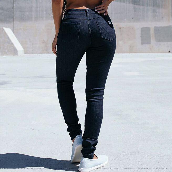 Women's Slim Athletic Fit Denim, Dark Rinse, 26