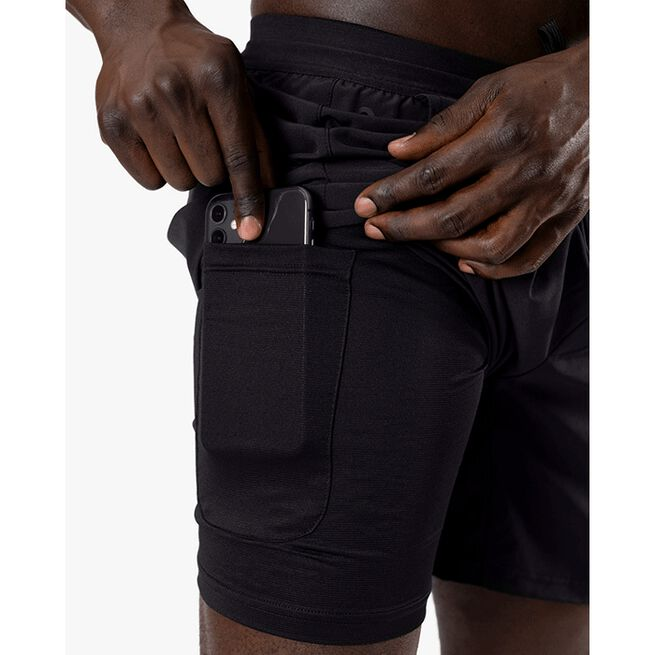 Workout 2-in-1 Shorts, Black, S