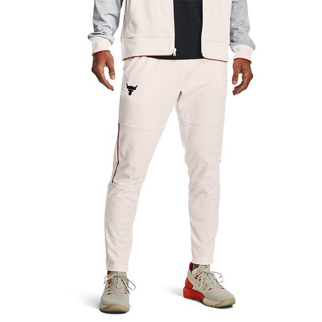 UA Project Rock Knit Track Pant, Onyx White