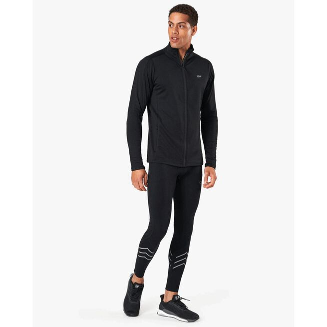 Outdoor Training Fleece Zip, Black, XXL