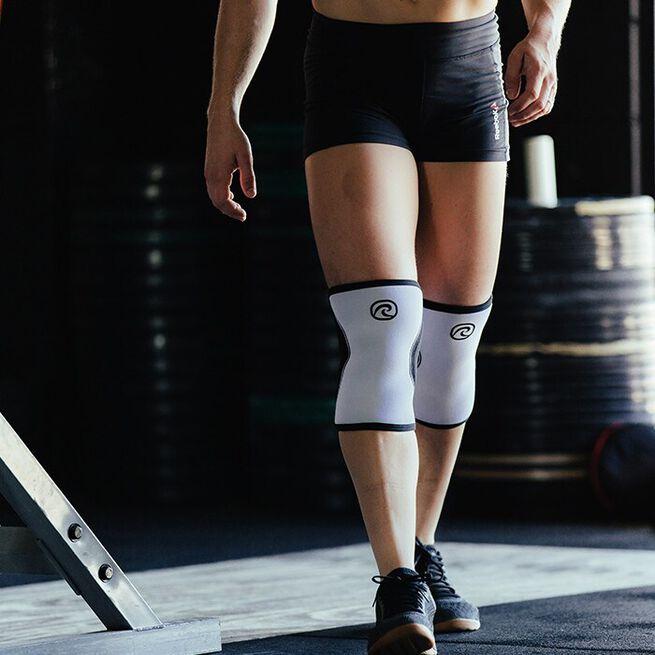 RX Knee Sleeve, 5mm, White/Black, XS