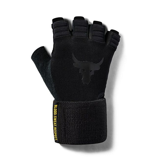 UA Project Rock Training Glove, Black, M