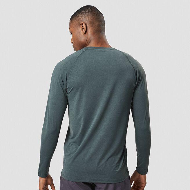ICANIWILL Workout Melange Long Sleeve, Dark Green