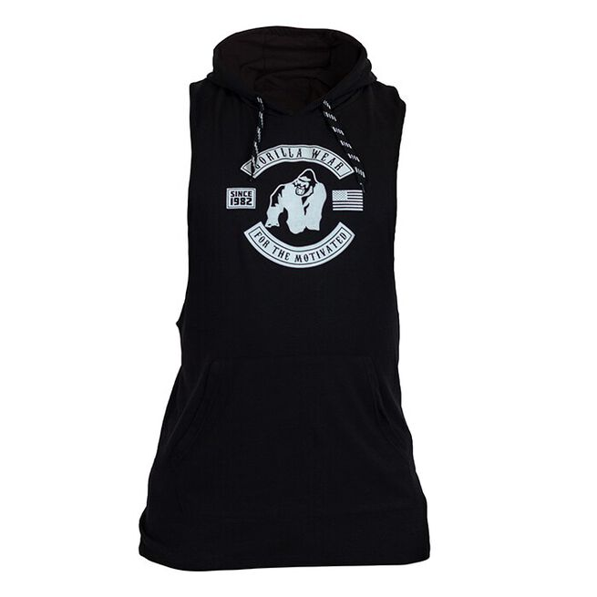 Lawrence Hooded Tank Top, black, S