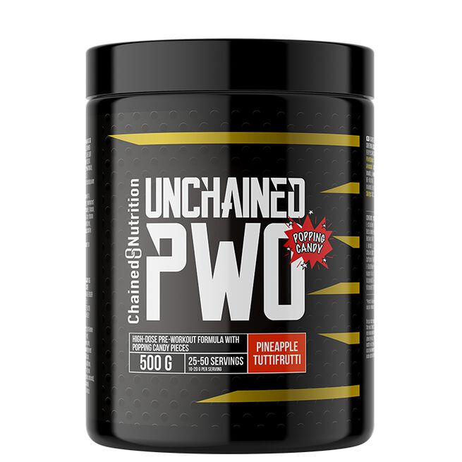 Chained nutrition PWO Unchained popping candy Pineapple Tuttifrutti