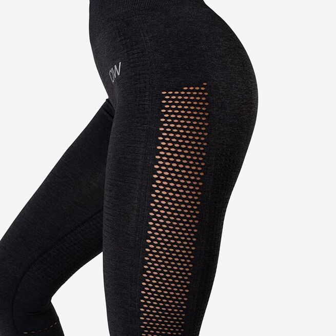 Dynamic Seamless 7/8 Tights, Graphite Melange, L