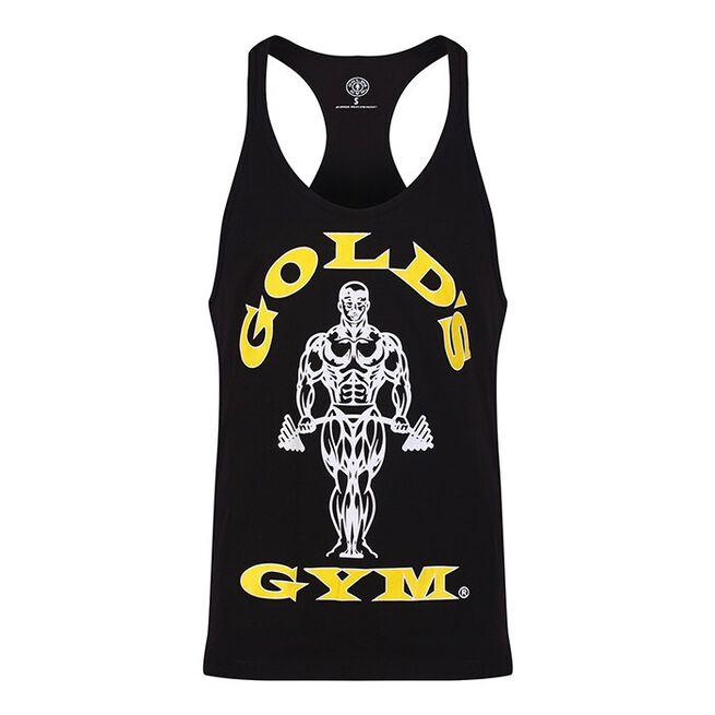 Gold's Gym Muscle Joe Premium Stringer Vest, black