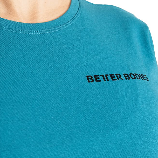Better Bodies Regular Tee Dark Turquoise