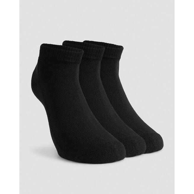3-Pack Ankle Sock, Black