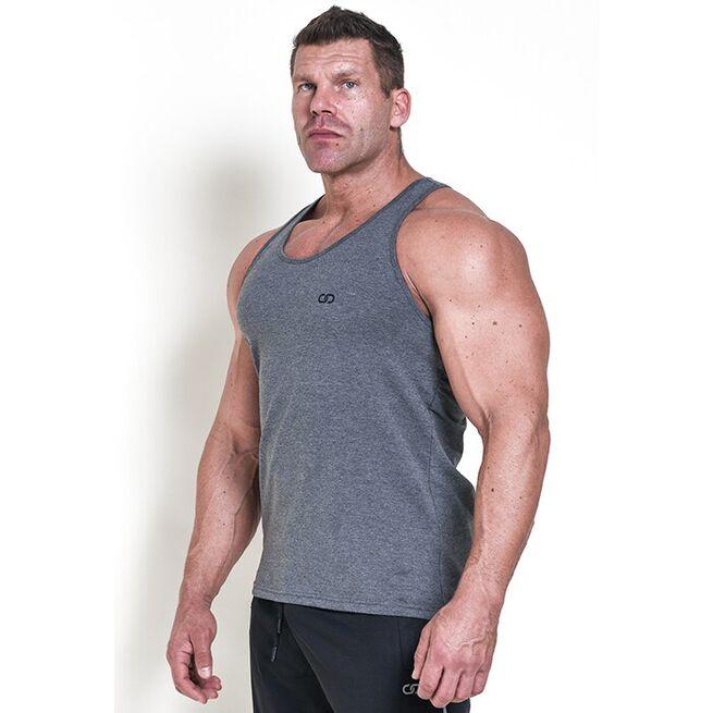 Chained Gym Stringer, Grey Melange, M