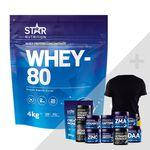 Star nutrition Whey-80 bonus product