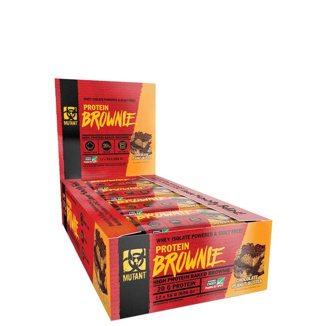 12 x Mutant Protein Brownie, 58 g, Chocolate Peanut Butter