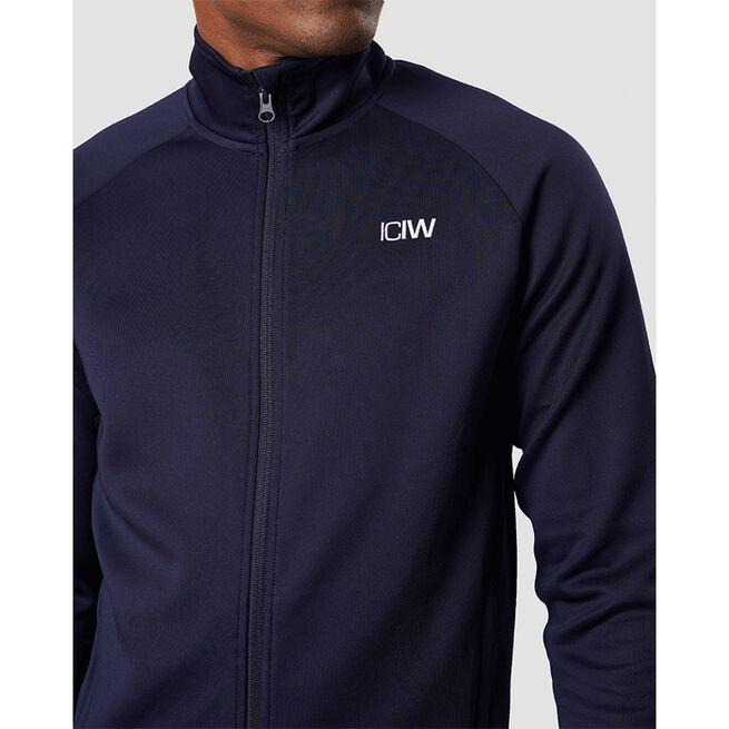 Workout Track Jacket, Navy, L