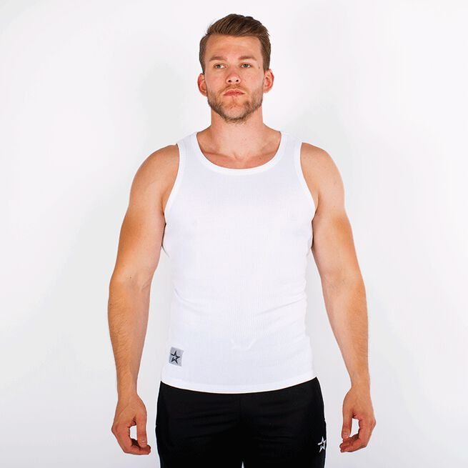 Star Rib Tank Top, White