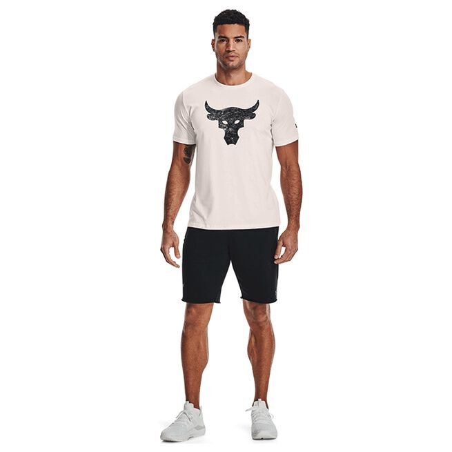 Under Armour Project Rock Brahma Bull SS Onyx White
