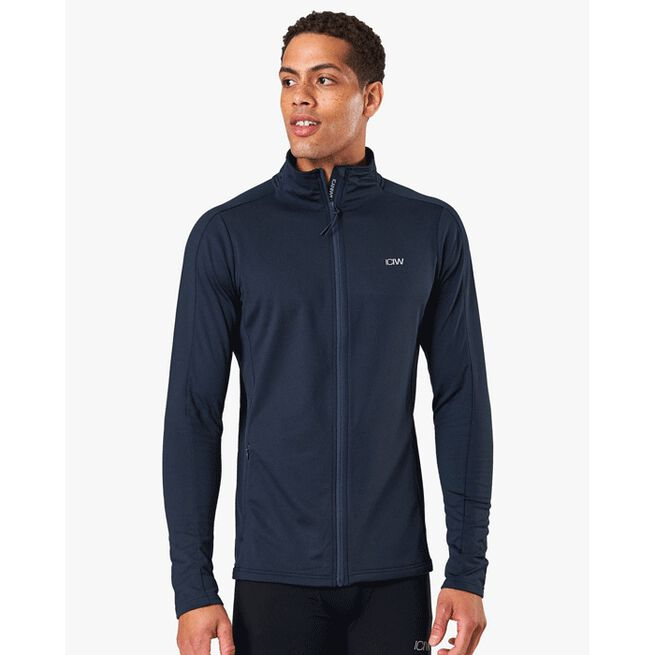 Outdoor Training Fleece Zip, Petrol Blue, S