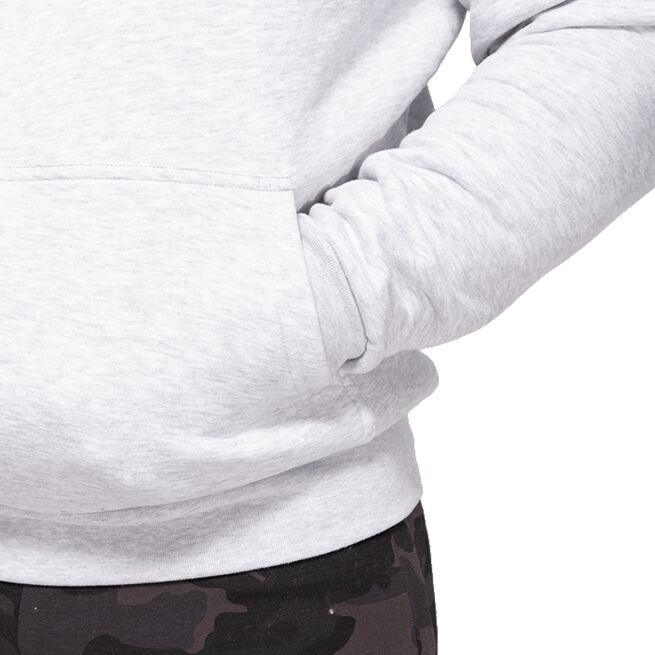 Better Bodies Logo Hoodie, Light Grey Melange
