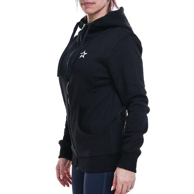 Star Womens  Zip Hood, Black, S