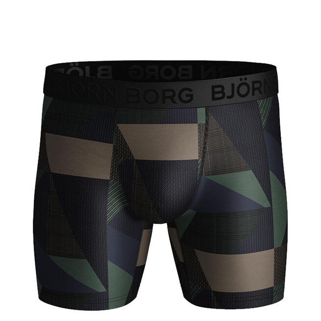 Bjorn Borg 3-Pack Performance Shorts BB Textured Block DuckGreen