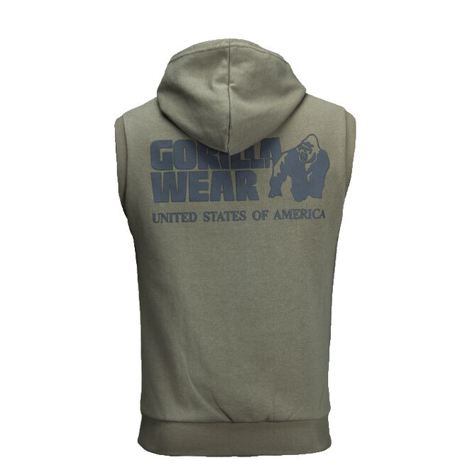 Springfield S/L Zipped Hoodie, Army Green, M