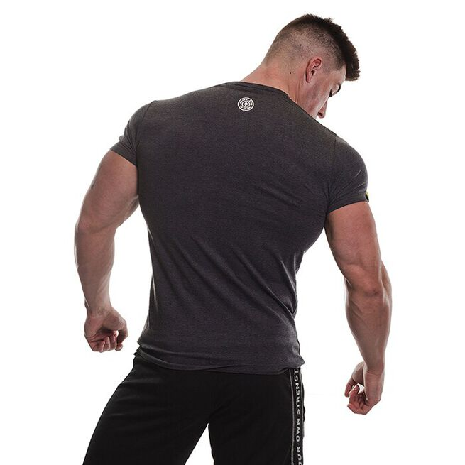 Gold's Gym Vintage Printed T-shirt, Charcoal Marl