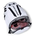 UA Hustle 5.0 Backpack, White
