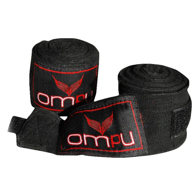 OMPU Handwraps, stretch/lycra, 4m, Black