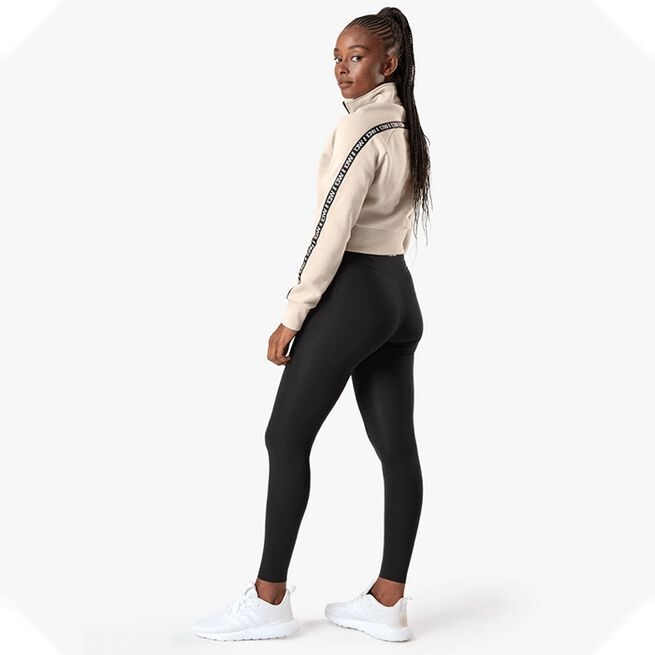 ICANIWILL Essential Cropped Logo Sweater, Beige